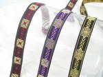 "Jacquard Ribbon 5/8"" (16mm) Aztec Pattern Priced Per Yard"