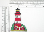 """Lighthouse Embroidered Iron on Patch Applique Fully Embroidered   Measures 2 7/8"""" high x 1 7/8"""" wide approximately"""