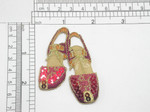 "Footwear Sandal Slingback Red Sequins Iron On Patch Applique  Fully Embroidered with Sequin Detailing  Measures 2 5/8"" x 2"" Wide Approximately"