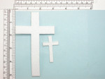 "Iron On Patch Applique - Plain Cross 5"" Tall White"