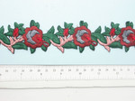 """Embroidered Floral Vine Border  38mm 1 1/2"""" wide Priced Per Yard  Iron On"""