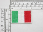 "Italy Flag Embroidered Iron On Patch Applique Italia  2"" x 1 1/4""  (51mm x 32mm) approx"