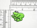 Green Frog Patch  Iron On Embroidered Applique
