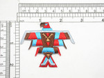 Fire bird Colorful Native American Iron On Patch Applique   Fully Embroidered  Measures 2-1/2'' x 2-1/8''     63.5mm x 54mm