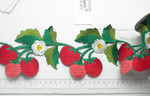 """Embroidered Fruit Vine  114mm 4 1/2"""" wide Priced Per Yard  Iron On  Fabulous embroidered trim in available to ship within 24 hours  Heat Seal or Iron On - excellent Quality!"""
