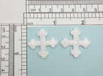 "Cross - Iron On Patch Applique - Equal Rounded End Cross 1"" (25mm) 2 pack & Up  Fully Embroidered"