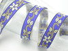 "Jacquard Ribbon 1"" Vinca  Priced Per 3 yards & Up  Woven Jacquard Ribbon with Metallic  6 colorways"