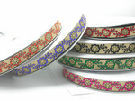 "Jacquard Ribbon 1"" Giselle Floral  Priced Per 3 yards & Up"
