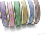 "Jacquard Ribbon 1"" (25mm) Labrys Shadow Priced Per Yard Color Options"