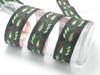 "Metallic Leaves Jacquard Ribbon 1 3/8"" (33mm) Priced Per Yard"