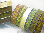 "Jacquard Ribbon 1 7/8""(48mm) Golden Fall Priced Per Yard"