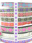 "Jacquard Ribbon 1"" Deco Diamomds  Priced Per 3 yards & Up"