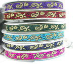 "Jacquard Ribbon 1"" Paisley Vine Priced Per 3 yards & Up"