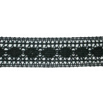 "Cluny Lace 1 1/4"" Black 10 Yards"