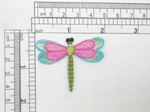 "Dragonfly Applique Holographic Sparkly Wings Iron On Embroidered Patch 1 7/8"" x 1 1/2"""