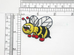 "Bumble Bee Patch Iron on Embroidered Applique 1 3/4"" x 1 1/2"""