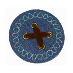 Iron On Patch Applique - Denim & Suede Iron On