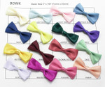 "Bow Tie Satin Ribbon 2"" x 7/8"" (51mm x 22mm) *Colors* 12 Pack"