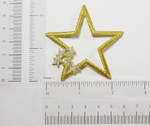 Iron On Patch Applique - Star with Star Accents