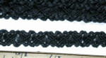 "Braid 1/2"" Black Fancy 6 yards"