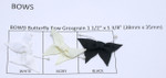"Butterfly Bow 1 1/2"" (38mm) Grosgrain Ribbon  5 Pack"