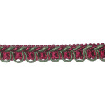 "Braid 1/2"" Green & Wine Fancy with Cord Edge"