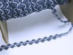"""Braid 1/2"""" Fancy 2 Tone Denim Blue Scroll priced Per Yard"""