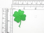 """Clover Shamrock Patch Iron On Embroidered Applique 1 1/8"""" x 1 1/2"""""""