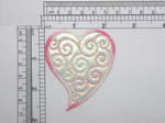 Heart Funky Heart Patch Holographic Embroidered Iron On Patch Applique