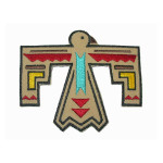 Iron On Patch Applique - Native American Bird