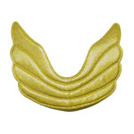 Padded Angel Wing Appliques- Gold Metallic - 10 Pack