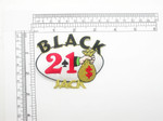 Black Jack 21 Gaming patch Iron On Applique