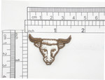 Cow Steer Head Patch Iron On Embroidered Applique