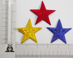 "Iron On Patch Applique - Star 2 1/2"" (63.5mm)  *Colors*"