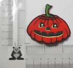 Pumpkin Jack o Lantern  Iron On Patch Applique