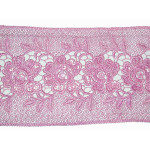 "Venise Lace 5 1/2"" Pink with Sequin Detail"