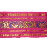"Jacquard Sari Border 3 3/4"" wide Hot Pink"