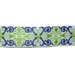 """Jacquard Ribbon 1"""" Renaissance Style Lt Blue"""