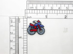 Dirt bike Patch Mini Iron On Embroidered Applique  5 Pack