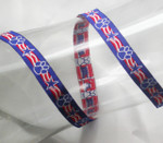 "Jacquard Ribbon 1/2"" Patriotic Paws"