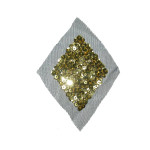 Sequin Applique Gold Diamond on Sheer