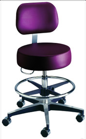 Century Series Pneumatic Stool with Backrest / Footring