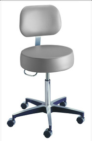 Century Series Pneumatic Stool with Backrest
