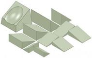 CT Imaging Positioning Sponge Kit - Stealth Foam
