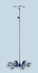 Deluxe 6 Caster IV Stand (4 hooks)