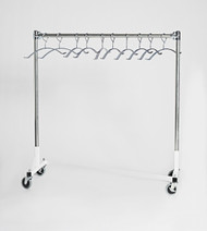 Z Base Mobile Valet Apron Rack with 10 Hangers