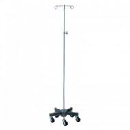 """IV Stand Short 5-Leg Steel Base, Height: 54""""-90.5"""" (2 Hooks)"""
