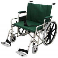 "Bariatric Wheelchair w/ Detachable Footrest (24"", green)"