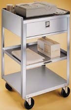 Stainless Steel Utility Cart & Drawer (200lb. capacity)