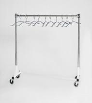 Short Z Base Mobile Valet Apron Rack with 7 Hangers